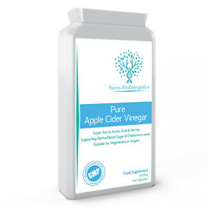 Pure Apple Cider Vinegar 500mg 120 Capsules – No Additives or GMOs