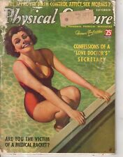 1937 Physical Culture September - Birth Control; Walking;Parachute jumper Beauty