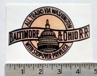 Baltimore & Ohio B&O Railway Railroad sticker decal