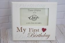 Shabby Chic My First Birthday Photo Frame Picture Cream 6 x 4 Wooden F0902C