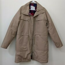 London Fog Winter Parka Men's 42 Long Warm Flannel Lined Coat Beige