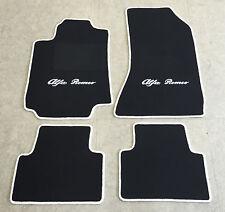 Autoteppiche Fußmatten für Alfa Romeo 159 schwarz weiss 4teilig Neuware