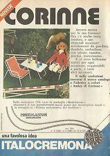 X4547 Corinne una favolosa idea ITALOCREMONA - Pubblicità 1976 - Advertising