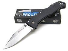 COLD STEEL Black Handle PRO LITE Straight CLIP POINT Folding Pocket Knife! 20NSC