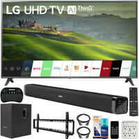 "LG 75"" HDR 4K UHD Smart IPS LED TV 2019 Model + Soundbar Bundle"