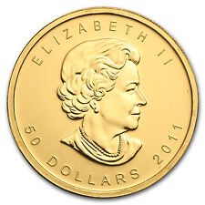 2011 Canada 1 oz Gold Maple Leaf BU - SKU #59141