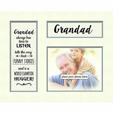 "Contemporary Memory Mount Grey Dotty For Photo Frame 10"" x 8"" Gift - Grandad"