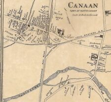 Canaan Huntsville East Canaan CT 1874 Maps with Homeowners Names Shown