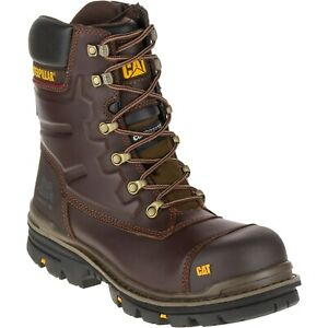Mens CAT Premier Safety Boots Waterproof Leather Composite Toe Caterpillar Work