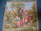 FRENCH Vintage Romantic Cotton TAPESTRY  GOBLYS FRANCE
