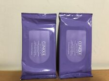 x2 Clinique Take The Day Off Cleansing Towelettes For Face & Eyes 10 Counts