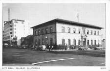 Vallejo California City Hall Street View Antique Postcard K103889