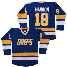 Medium Jeff Hanson #18 Brothers Charlestown Chiefs Jersey Movie Hockey