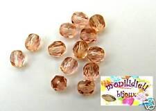 BIGIOTTERIA PERLINE- 20 mezzi cristalli 6mm - rosa