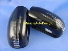 ARROW LED DOOR MIRROR BLACK COVERS SET FOR 2000-2007 MERCEDES BENZ W203 C-CLASS