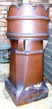 Large Vtg Old Authentic Antique Terra Cotta Crown Roof Chimney Pot Garden Decor