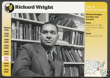 RICHARD WRIGHT Writer Author Photo Grolier Story of America Bio History CARD
