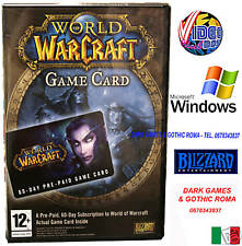 WOW GAMECARD PC WINDOWS NUOVO IMBALLATO ABBONAMENTO 60G