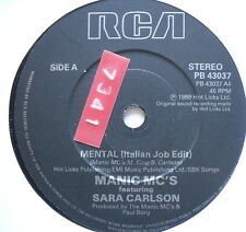 "MANIC MC'S - Mental - Excellent Condition 7"" Single PB 43037"