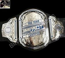 Blue TNA World Tag Team Championship White Leather Belt