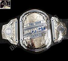 Blue TNA World Tag Team Championship White Leather Belt