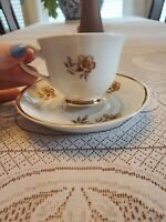 Arabia finland Myrna tea cup and saucer floral gold