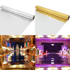 33/66ft Wedding Carpet Mirror Aisle Floor Runner Silver Gold Disposable Scene