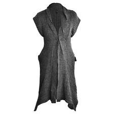 New Ladies Women Short Sleeve Long Length Gilet Cardigan Sizes: SM/ML/LXL