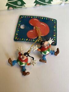 Goofy Small Disney Enesco Christmas Tree Ornament Set Of 2 New On Tag