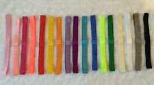 New listing 72 Pc Shimmer stretchy elastic headbands Baby Girls bow for Interchange flower ~