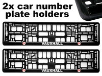 2x Doming CAR Number Plate Surround Holder Frames BEST FIT for VAUXHALL
