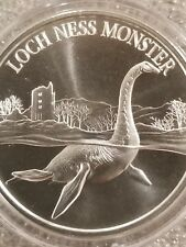 Loch Ness Monster 1 oz .999 Silver round  American Lake Folklore new high relief