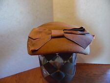 Vintage Merrimac Hat Brown Wool Ladies Hat With Matching Ribbon Bow Usa