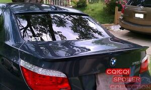 Painted BMW 04-10 E60 5-series Sedan A type roof + trunk spoiler color: A22 ◎