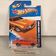 '72 Ford Gran Torino Sport #117 * Orange walmart only * 2012 Hot Wheels * YA10