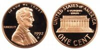 1992 S Proof Deep Cameo Lincoln Memorial Cent