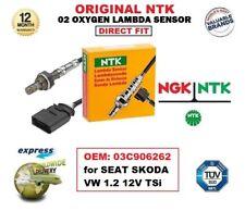 NGK NTK O2 OXYGEN LAMBDA SENSOR OEM: 03C906262 for SEAT SKODA VW 1.2 12V 1.2 TSi