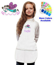 Personalized Kids Apron with Cooking Fairy Embroidery Design