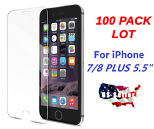 100x Wholesale Bulk Tempered Glass Screen Protector for Apple iPhone 7 Plus 5.5""