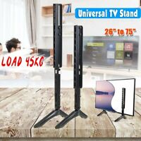 Universal Table Top TV Stand Base Bracket Mount for 26-75 inch Flat-Screen LCD