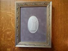 Wedgwood lilac jasper dipped framed plaque muse Wedgwood only mark
