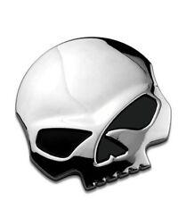 ADESIVI AUTO 3d Emblema Skull Teschio Sticker Harley 65 mm metallo medaglione