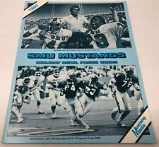 1980 Southern Methodist University SMU Mustangs Holiday Bowl Press Guide vs BYU