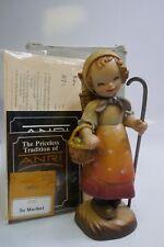 "Rare Anri ""To Market"" 6"" Hand Carved Wood Figurine By Ferrandiz - Mint In Box"