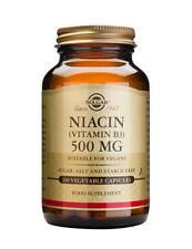 Solgar Niacin Vitamin B3 - 100 Capsules 500 MG