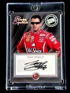 TONY STEWART PRESS PASS SIGNED 2010 PREMIUM CARD AUTOGRAPHED AUTO MINT PS-TS