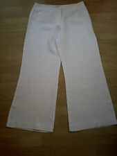 Size 12 White 100% Linen Phase Eight Wide Leg Trousers