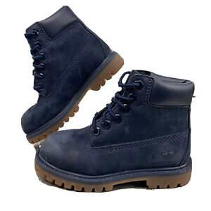 Timberland Boot 3783A Leather Blue Lace Up Waterproof Shoe Toddler Size 9C
