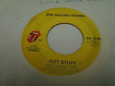 "The Rolling Stones Hot Stuff / Fool To Cry 7"" 45 rpm Atlantic 1976 VG"