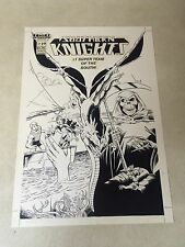 SOUTHERN KNIGHTS #19 original COVER ART, 1987 DRAGON, SKELETON, TEAM SPLASH
